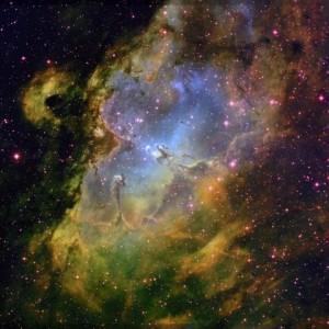 Universe eagle nebula