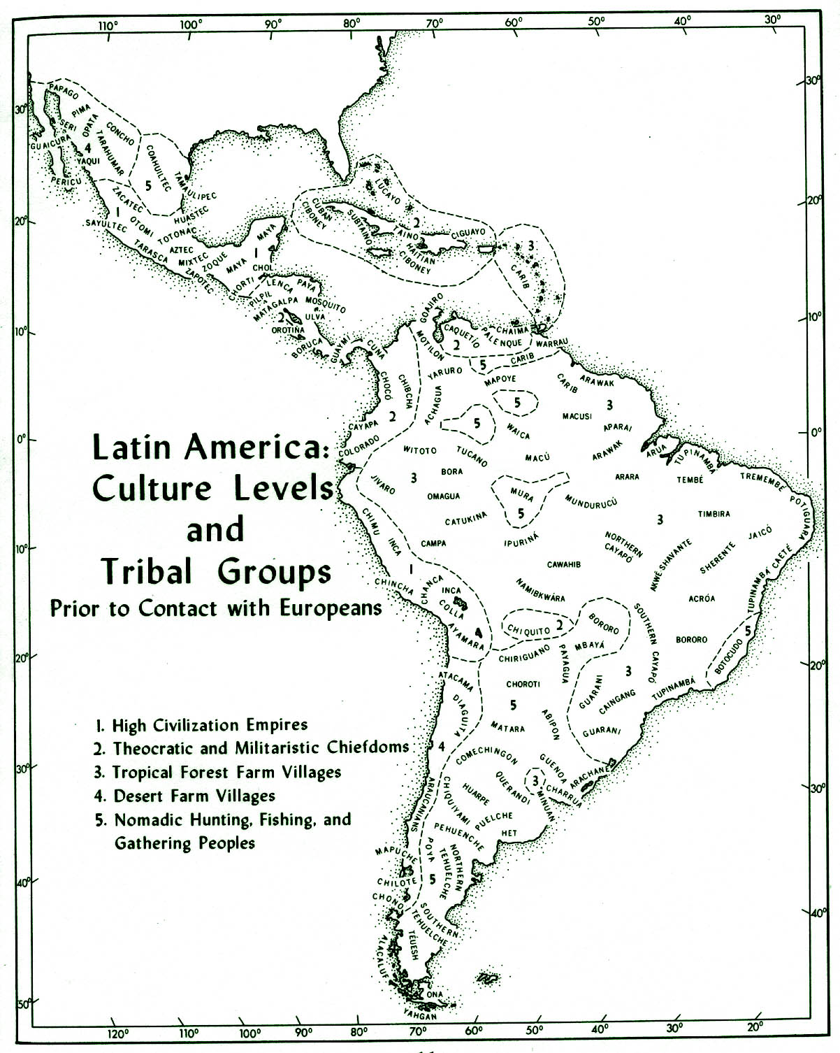 central south america native tribes