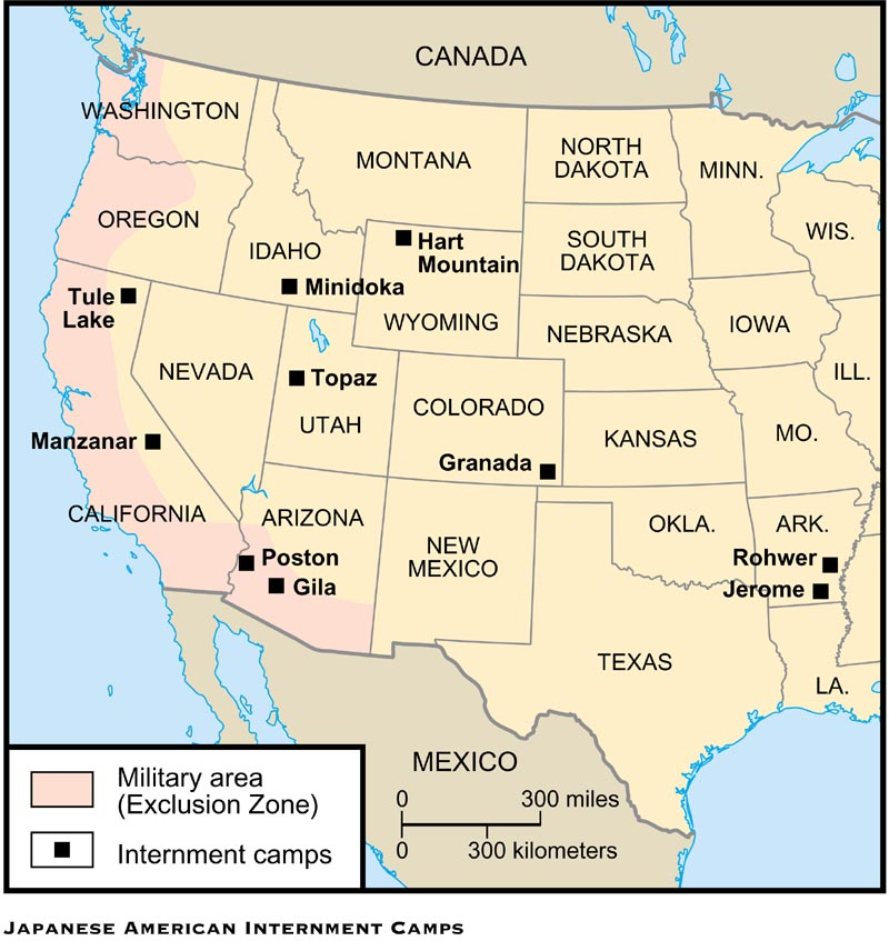 What Are Japanese Internment Camps Japanese Internment Camps - Map-of-japanese-internment-camps-in-us