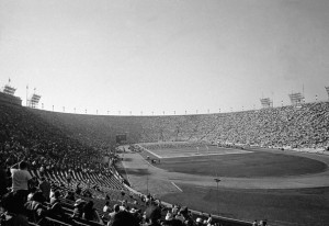 Los Angeles Coliseum during the Super Bowl, Jan. 15, 1967. (AP Photo)