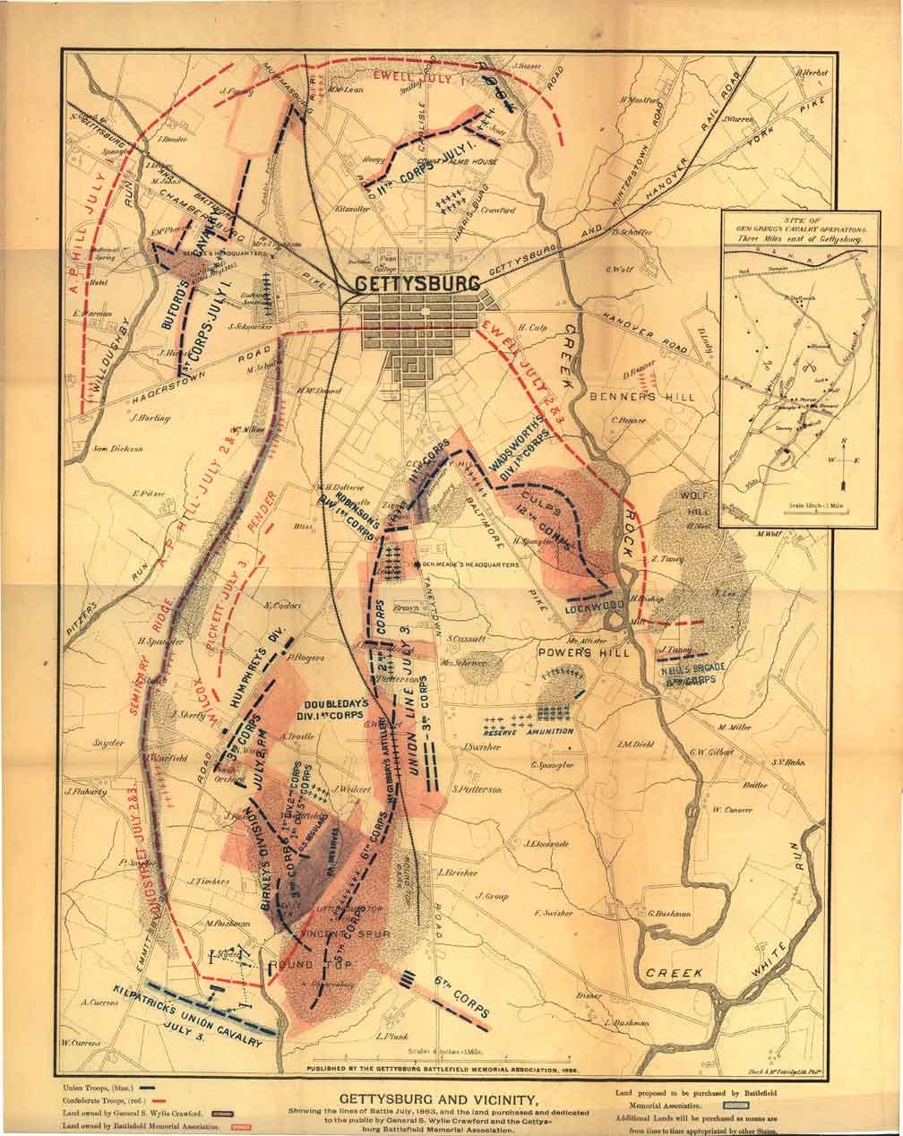 gettysburg battlefield map httpmapperycommap