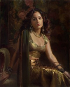 Queen Vashti from the Book of Esther -Oil on Linen: © Ann Manry Kenyon