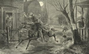 Paul Revere's ride, April 19, 1775. Emmet, Thomas Addis, 1828-1919. New York Public Library